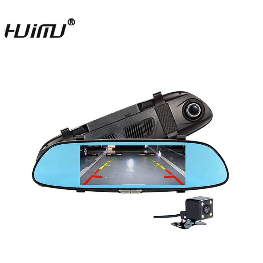dual levas espejo retrovisor del dvr del coche de pulgadas espejo retrovisor del coche de