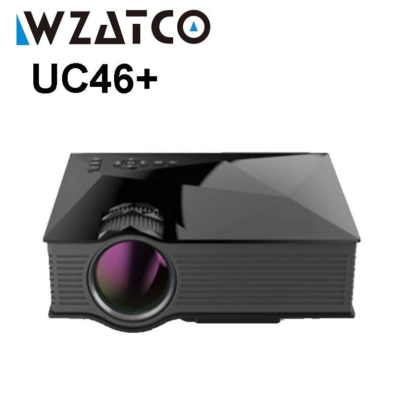 Wzatco uc46 Wi-Fi Беспроводной зеркало Miracast 1200 люмен HD цифровой мультимедийный светодиодный мини карманный проектор proyector projetor Beamer