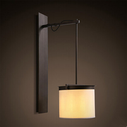 Cloth RH Loft Industrial Vintage LED Wall Lamp Simple Fixtures For Home Indoor Lighting Bedside Light Applique Murale Luminaire modern lamp trophy wall lamp wall lamp bed lighting bedside wall lamp