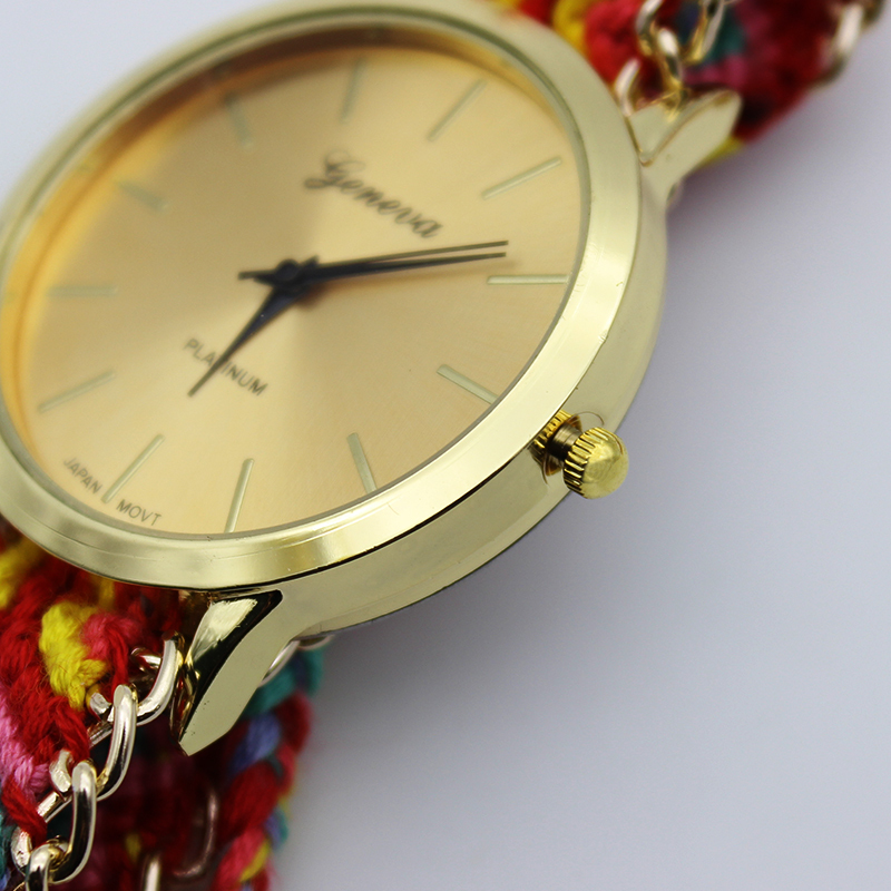 Geneva watch brand new hand woven watches ladies dress watch ...