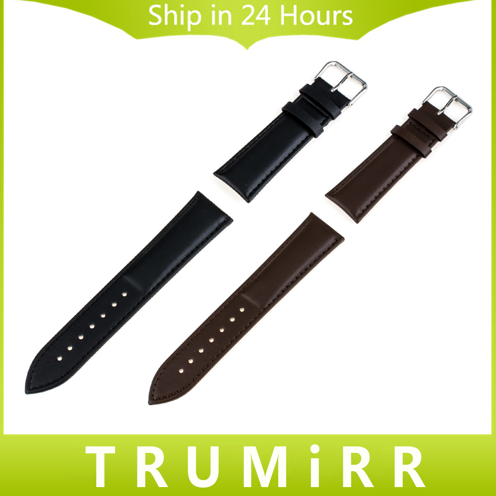 Genuine Leather Watchband 16mm 18mm 20mm 22mm 24mm Universal Watch Band Wrist Strap Bracelet Black Brown + Tool + Spring Bars 22mm 24mm black mens genuine leather watch strap band