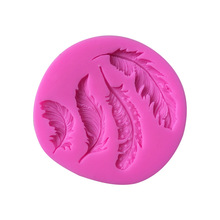 New Feathers Cake Sugar Silicone Mold DIY Clay Craft for Plaster designer concrete molds