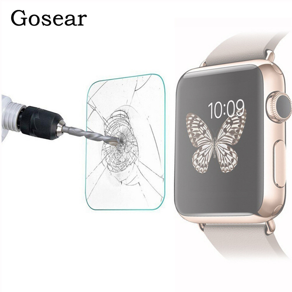 Gosear Tempered Glass Screen Protector Protective Film For Apple Watch IWatch Series 1 38mm 42mm I Wach IWach Pantalla Accessory