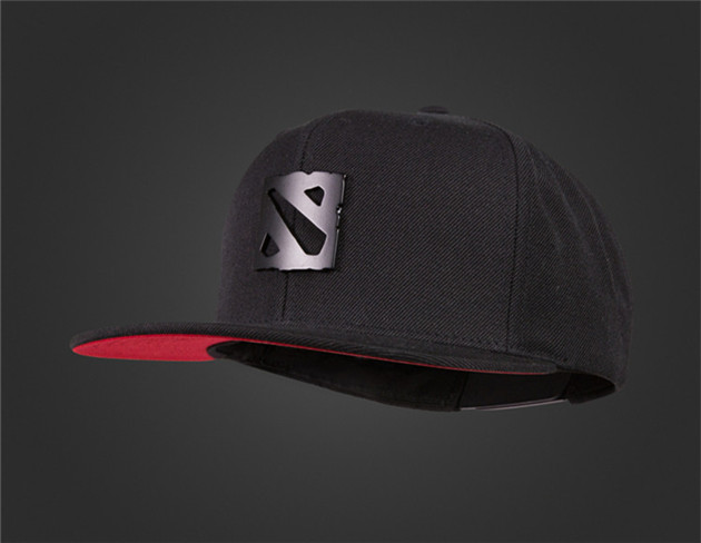 DOTA 2 Asian T17 Metal Logo Outdoor Hip Hop Snapback Hat Black Baseball Cap