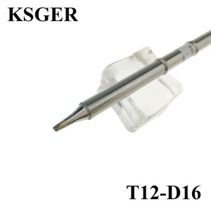KSGER Electronic Soldering Iron Tip T12-D16 Solder Tips 220v 70W For FX-950 FX-951 Soldering Station Soldering Handle Weld Tools(China)