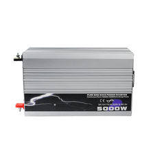 5000 Вт Чистая синусоида Инвертор 12 В/24 В/48 В DC вход 220 В/230 В AC Выход пиковая мощность 10000 Вт для кондиционирования воздуха/холодильника/насоса