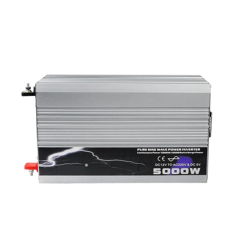 5000W Pure Sine Wave Inverter 12V /24V /48V DC Input 220V/230V AC Output Peak Power 10000W For Air-condition/Refrigerator/ Pump