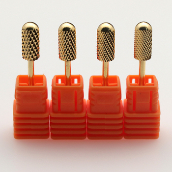Kesinails Gold Carbide Smooth Top Burr Nail Drill Bit Electric Drill Accessories Manicure Nail Art UV LED Gel Tool