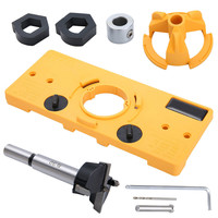 Concealed 35MM Cup Style Hinge Drill Bit Boring Door Hole Locator Jig Guide Carpenter Woodworking DIY