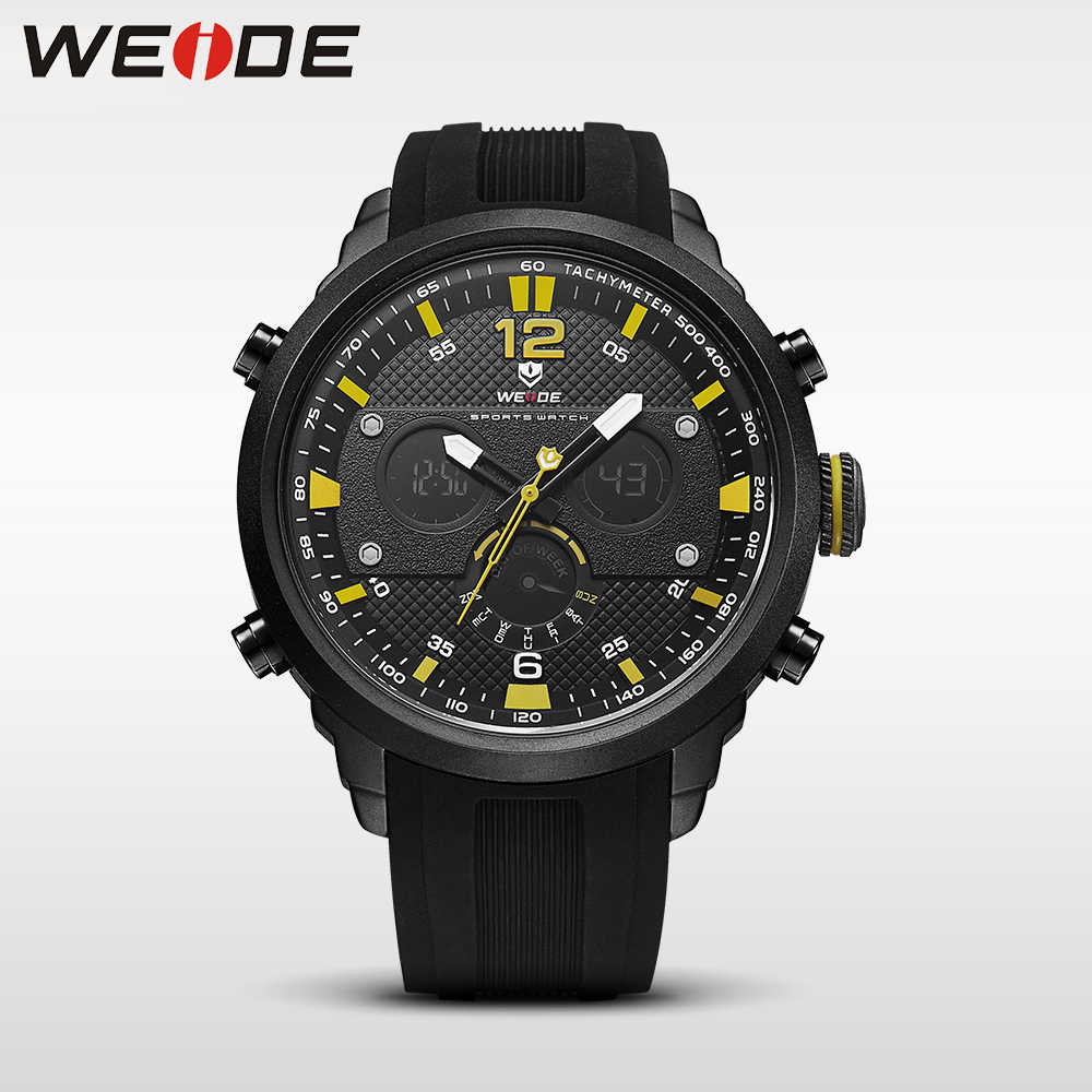 WEIDE men watch sport digital luxury brand quartz watches water resistant relojes hombre alarm clock automatic electronics watch