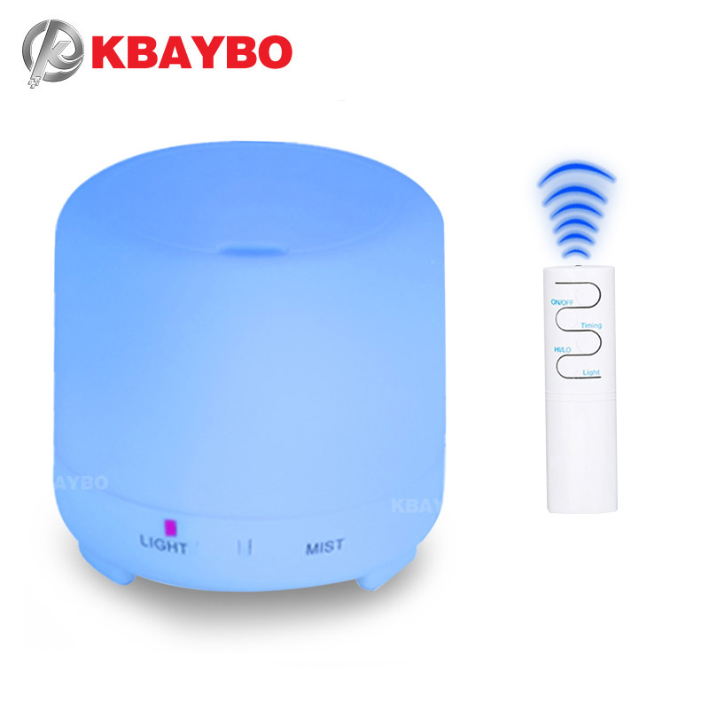 KBAYBO 200ml USB Air Humidifier Ultraquiet Air Diffuser For Home Office With 7 Colors LED Night Light Mist Maker Remote Control