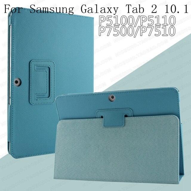 Para Samsung Galaxy Tab 2 10,1 pulgadas GT-P5100 P5110 P5113 Tablet Funda de cuero PU soporte Folio poner Stylus Pen protector la cubierta de la piel