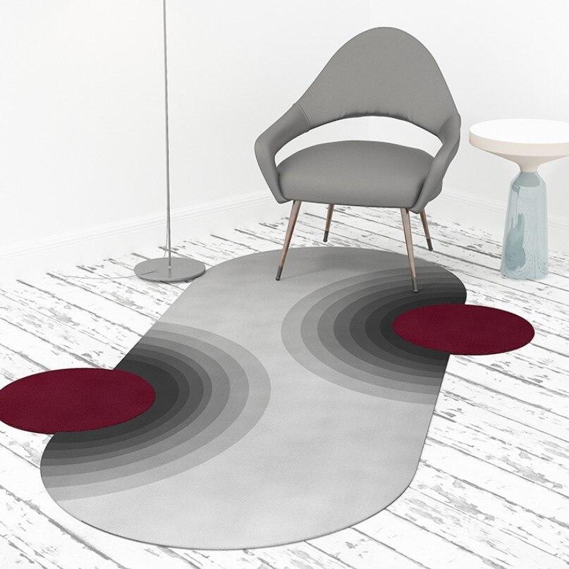 INS Fashion personnalité en forme de tapis tapis géométrique nordique salon Table basse en forme de tapis tapis couleur tapis tapis de sol - 4