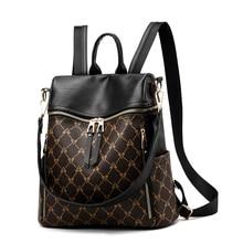 138fb01651 2019 nouveau Mochila Feminina femmes sac à dos en cuir Pu rétro femme  cartables adolescente voyage livres sac à dos sacs à bando.