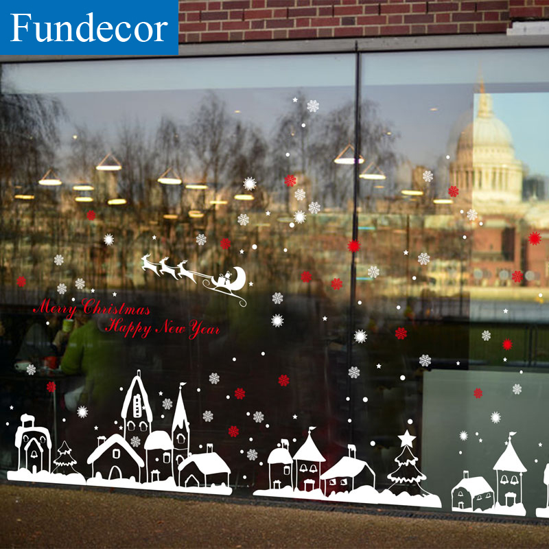 Snow Town Christmas Window Sticker