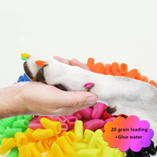 20 Grains New Rubber Pet Toy Anti Scratch and Prevention of Nail Sleeve for Dogs Cats Supplies Accessories
