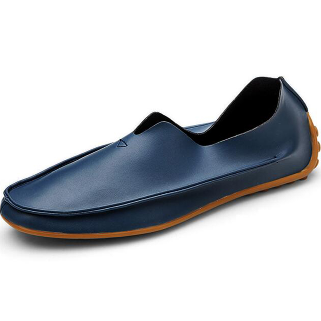 Fashion  Driving Flat Shoes men PU Leather loafers Mens Slip on  Moccasins Walking Loafers Boat shoes Comfort Shoes Sizes 11 2017 autumn fashion men pu shoes slip on black shoes casual loafers mens moccasins soft shoes male walking flats pu footwear
