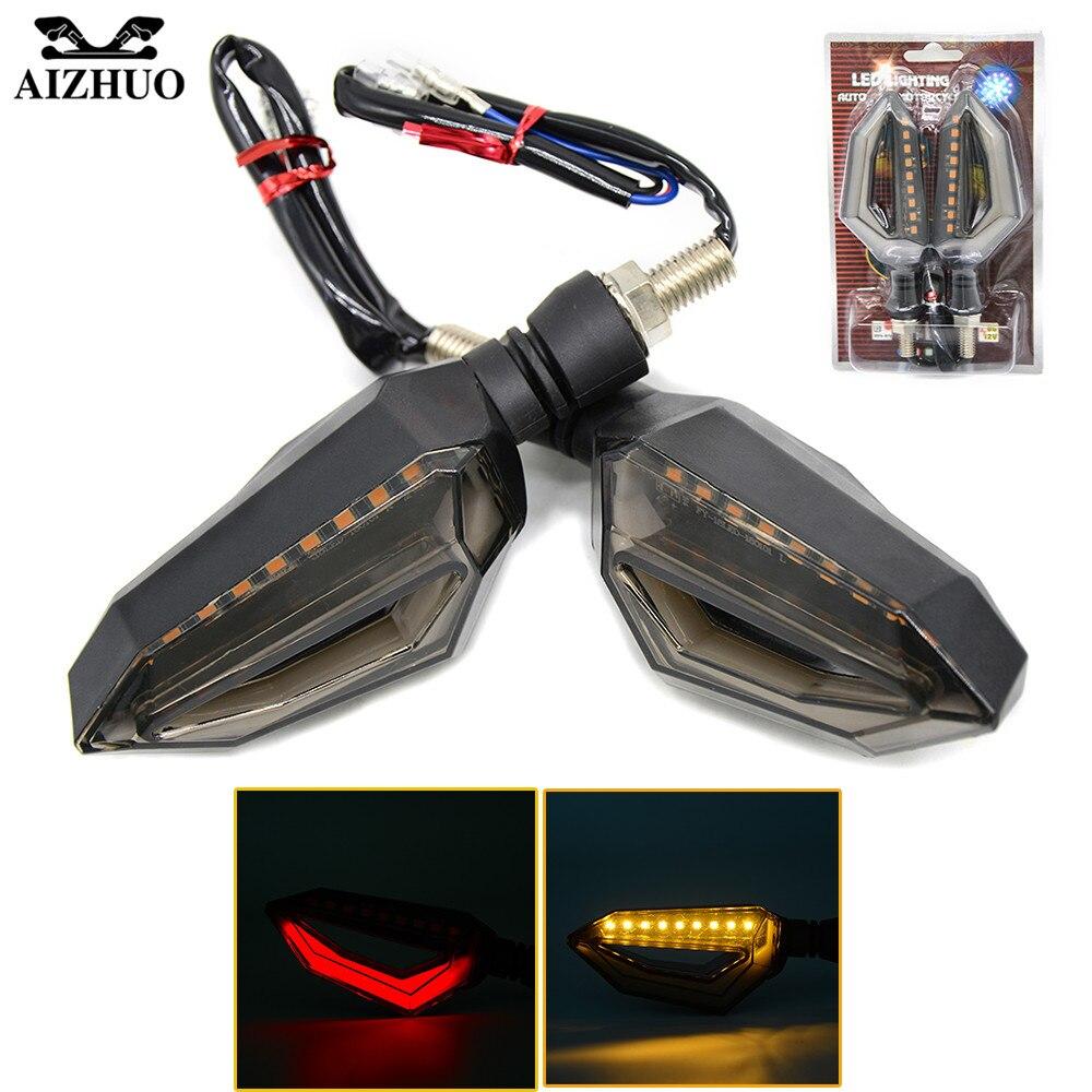 2 PCS Universal Motorcycle Turn Signal Light Indicators Amber Light For honda CBR 600 F2 F3 F4 F4i NC700 LED Blinkers Flashers
