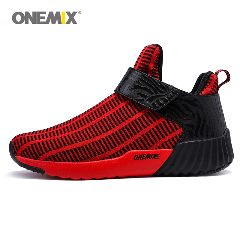 ONEMIX Running Shoe Men Women 2017 Sport Shoes Spring Trainers Exercise Sneakers height increasing High Top For Man Runner