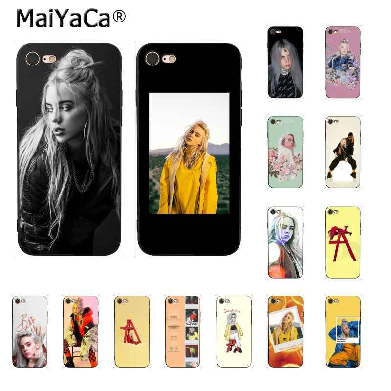 MaiYaCa Music Singer Star Billie Eilish Cute Phone Case for iPhone 8 7 6 6S Plus X XS MAX 5 5S SE XR 10 Cases