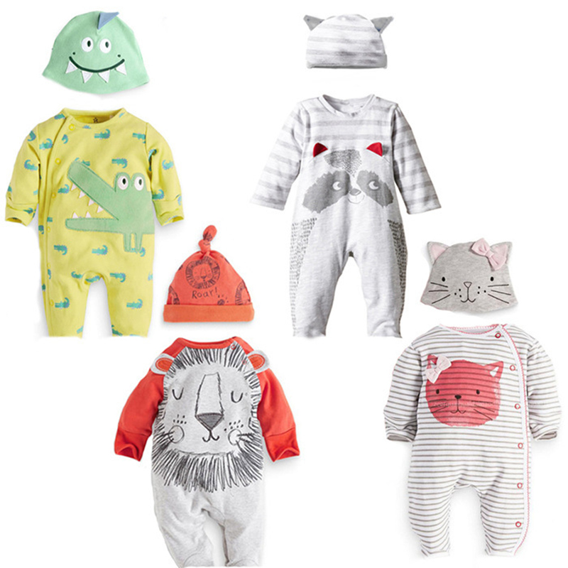 Newborn Baby Boy Rompers Cute Animal Bodysuits Unisex Baby Clothing Set Spring Infant Long Sleeve Jumpsuits Baby Girls Clothes he hello enjoy baby rompers long sleeve cotton baby infant autumn animal newborn baby clothes romper hat pants 3pcs clothing set