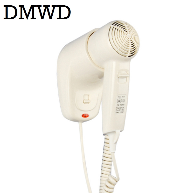 DMWD Wall Mounted Hair Dryer dry skin hanging wall electric Hairdryers portable thermostatic Hair Salon Blowers Hotel bathroom