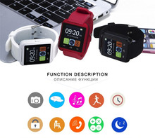 2016 Bluetooth Smart Uhr U8 U80 Sport Smartwatch für Apple/Android Smartphone Samsung/iPhone mit Kleinpaket mit Box