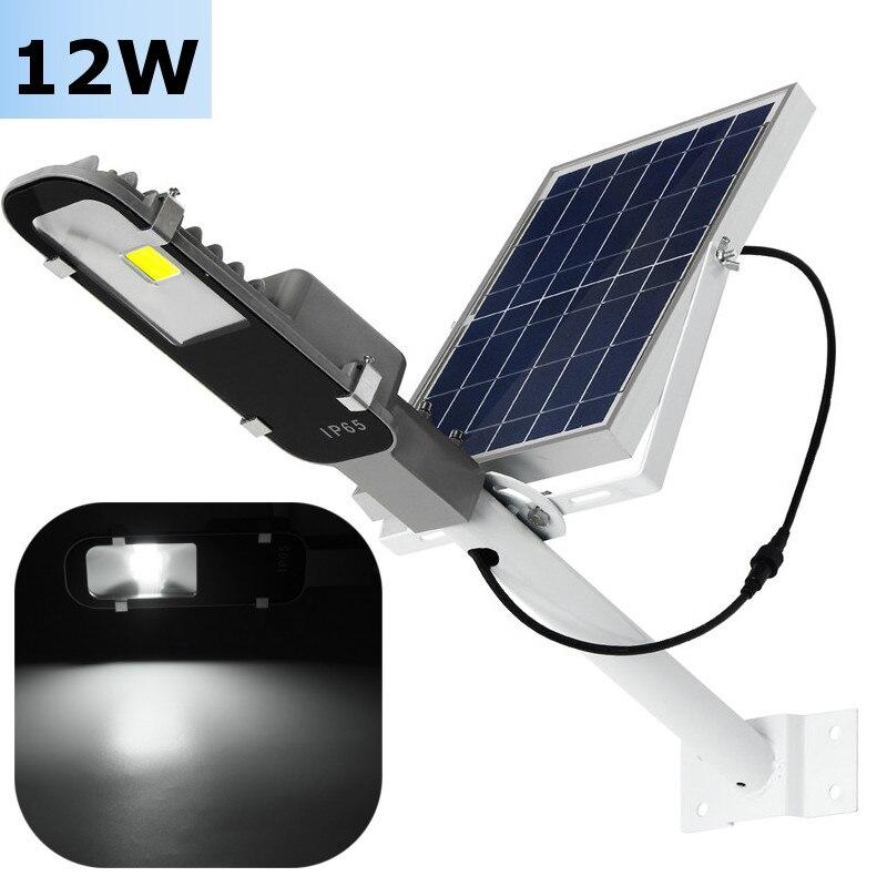 Waterproof Light Sensor 12W COB LED Solar Light Solar Power COB LED Street Light Road Path Outdoor Garden Lamp