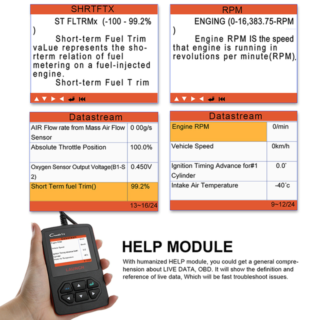 Launch X431 Creader V+ OBD OBD2 Automotive Scanner Fault Code Reader With Multi-language ODB2 Car Diagnostic Tool Auto Scanner