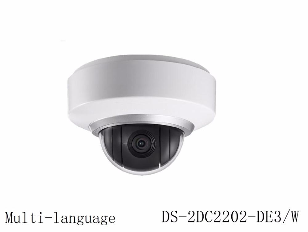 Multi language Version DS 2DC2202 DE3 W Instock 2MP Wifi Mini PTZ CCTV IP Camera wireless