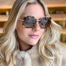 MARC Square Sunglasses Women Fashion Brand Design classic Retro Gradient Oversized Trend Glasses Oculos De Sol UV400