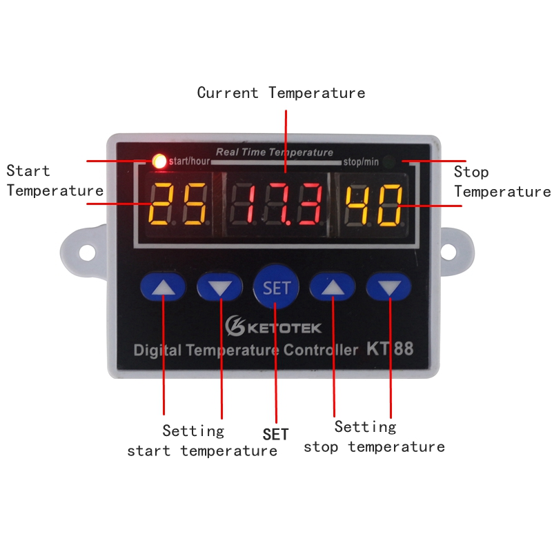 HTB18iEgbvBj uVjSZFpq6A0SXXa8 Digital Thermostat 12V 24V 110V 220V Temperature Controller Temperature Regulator Control Switch Relay Output 10A 220VAC