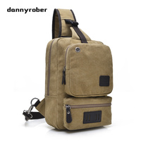 2017 Vintage Canvas Chest Pack Fashion Men Messenger Bags Travel Casual Male Small Retro Shoulder Bag With Earphone Hole