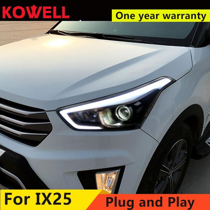 Car Styling for Hyundai IX25 Headlights 2015 2017 Creta LED Headlight DRL dynamic turn signal Light