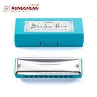 KONGSHENG 10-Löcher mund orgel Mundharmonika hohe qualität Musical Instrument für Anfänger mit box Key von C D E F G EINE Bb