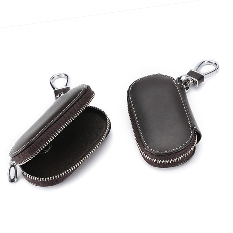 1 Pcs Universal Car Key Case Cover Leather Holder Chain Car key Shell Protecor Car styling Accessories in Key Case for Car from Automobiles Motorcycles