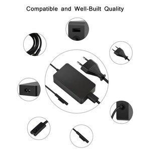 Image 4 - 15v 2.58a 44w adaptador de alimentação para microsoft surface portátil pro 3 pro 4 pro 5 2017 livro carregador ac com dc 5v 1a usb carregador