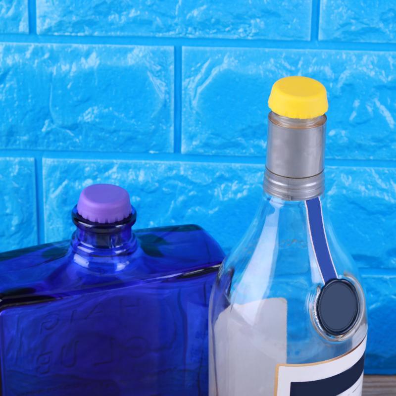 6pcs/set Silicone Beer Bottle Cap Reused Practical Colorful Leak Free For Wine Beer Beverage Bottle Novelty Sealer Stopper