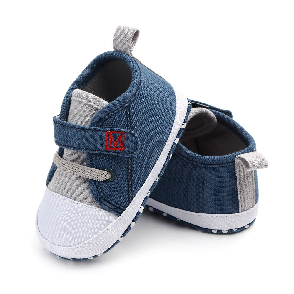 Newborn Baby Cute Boys Girls Canvas Letter First Walkers Soft Sole Shoes Baby Girl Shoes Toddler Shoes Infant Girl Shoes(China)