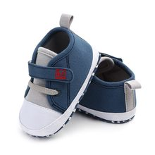 Newborn Baby Cute Boys Girls Canvas Letter First Walkers Soft Sole Shoes 2018 New toddler baby shoes girls(China)
