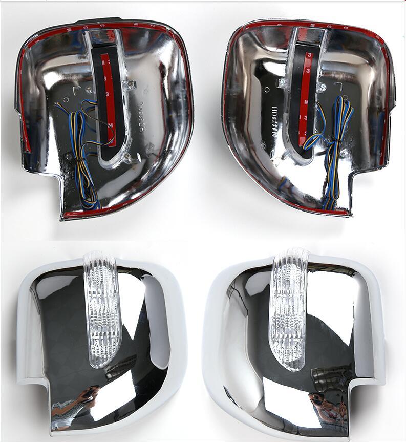 Auto ABS Examen Miroir Couverture Cadre Garniture Avec LED Lumière Pour Mitsubishi Montero Pajero V73 Auto Extérieur Pièces Car Styling
