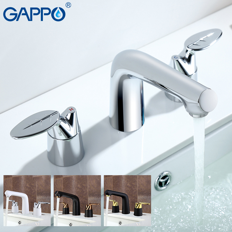 GAPPO Basin faucets water mixer tap bathroom sink faucet single hole brass faucet waterfall deck mounted taps цена