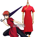 Gintama Kagura Cosplay Costume Women Short Sleeves Cheongsam the Chinese Dress Adult Anime Clothes