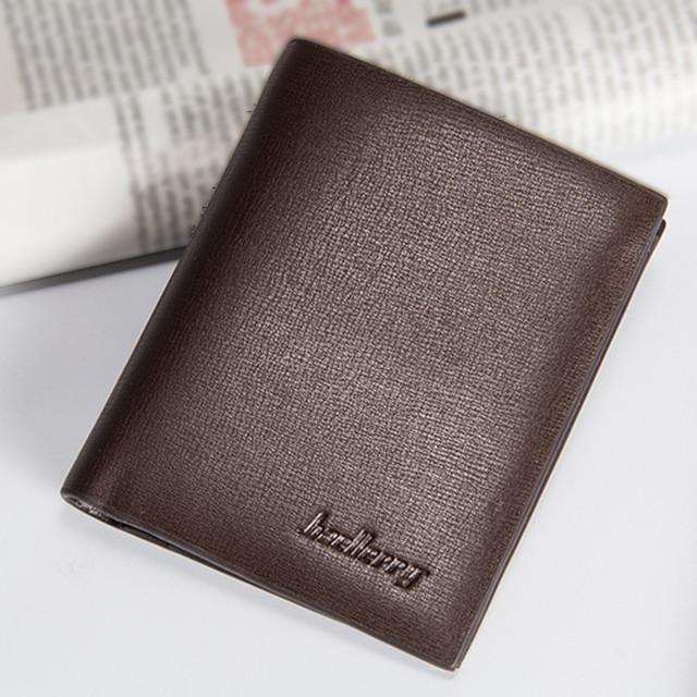 Mens Fashion pu Leather ID Card Holder