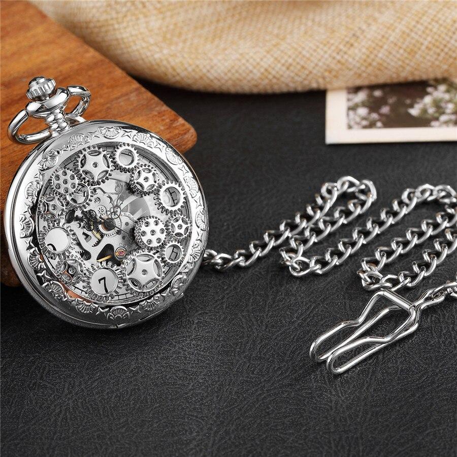 Relógio Vento Mão Relógio Esqueleto Steampunk Do