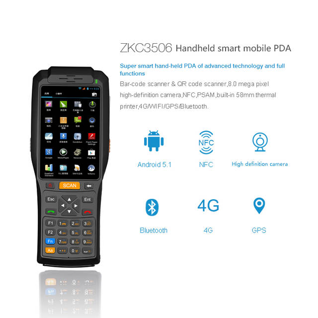 US $15 0 |Android os handheld device with printer, rfid payment terminal  for Public Transport System or retail etc-in Scanners from Computer &  Office