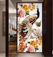 100x50cm DIY 5D Diamond Embroidery Diamond Mosaic New Peacock Soul Love Round Diamond Painting Cross Stitch