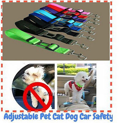 1x DOG PET CAR SAFETY SEAT BELT HARNESS RESTRAINT ADJUSTABLE LEADS TRAVEL CLIP Home Pet Products Dog Leads