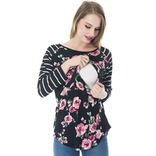 New Styles Long Sleeve Maternity Clothes Nursing Wear Nursing Top Breastfeeding Wear Breastfeeding Clothing T-shirt