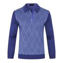Sweater Billionaire Zipper-Collar Wool Men's Fashion Gentleman Pattern Snakeskin Launching